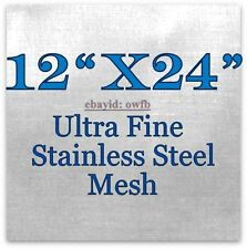 "BEST PRICE! 12""x24""- 400 Mesh Stainless Steel Wick SS 316L Atty Vape E-Cig"