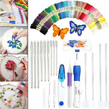 DIY Embroidery Knitting Punch Needle Pen Magic Sewing Tool Set, 50 Threads