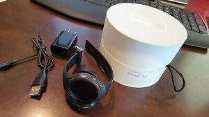 Samsung Galaxy Gear S2 42mm Stainless Steel Case Dark Gray Classic Buckle Smart…