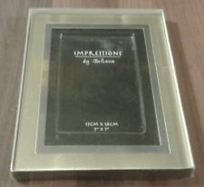 "IMPRESSIONS GOLD & SILVER COLOURED PHOTO FRAME - HOLDS PHOTOS 5 X 7"" -NEW IN BOX"