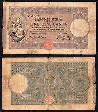 *R5* 50  lire Banco di Sicilia 1911 (Chiarchiaro) *R5*