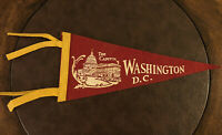 VINTAGE The Capitol Washington D.C. Felt Pennant Maroon & Gold-Piece of History