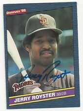 Autographed/Signed 1986 Donruss #446/Jerry Royster/San Diego Padres/Tough