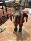 Vintage plastic standing Santa Claus