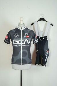 SMS Santini Cycling Bib Shorts + Jersey Black Bicycle Size M