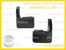 NEW GENUINE OE PEUGEOT 206 SW REAR 2PCS MUD FLAPS SPLASH GUARDS 9603L3 MUD COVER
