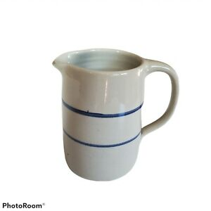 Marshalls Pottery Marshall Texas Stoneware Pitcher Blue Line