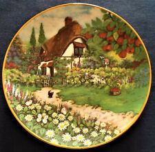 Franklin Mint Lillput lane Granny Smiths Cottage Fine Porcelain Plate