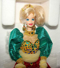 Holiday Jewel BARBIE Doll (Limited Edition by Mattel, 14311) 1995, Porcelain