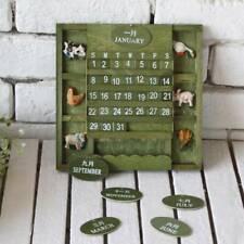 Vintage Calendar Ornaments Miniature Home Decor Retro Model Handmade Gift H