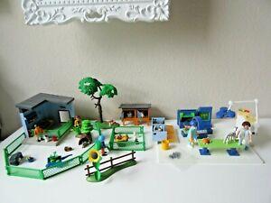 Playmobil° tolles Set Tierarzt Praxis 4346 Hasenstall 5123 Kleintiergehege 9277