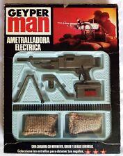 Action Man Geyper Man Machine Gun original vintage set Boxed