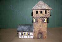 Mittelalter, Ritter-Turmburg Wassam, mit Haus 3079, zu 7cm Elastolin u.a.