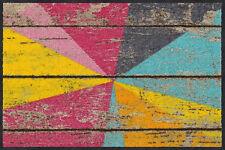 Salonloewe Fußmatte Graphic Wood 50 x 75 cm waschbare Schmutzmatte Türmatte