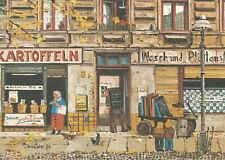 AK Kunstkarte Berlin - Der Mann mit dem Koks ist da (Renate Döbler)