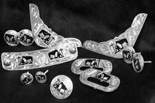 12Piece Praying Cowboy Engraved Saddle Decoration Set Horn Corner Plates Conchos