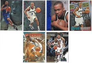 1996-97 Upper Deck Skybox NBA Hoops Flair Stephon Marbury 6 Basketball Card Lot