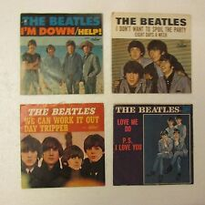 Beatles VTG Sleeves 45's lot 4 Help 8 days a week Day Tripper Capital Love me do