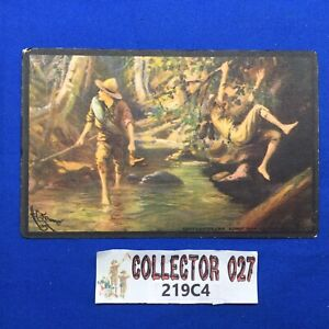Boy Scout Vintage Scout Gum Co. Post Card Hiding A Trail C1914