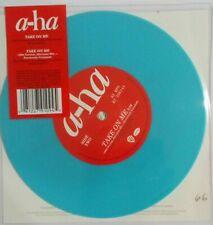 """A-HA -TAKE ON ME BLUE VINYL 7"""" VINYL LTD EDITION"""
