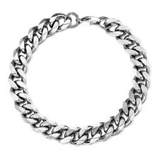 """3/5/7/9/11mm Mens Cuban Curb Stainless Steel Bracelet Chain Silver Gold 8""""-10"""""""
