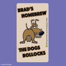 16 x LARGE PERSONALISED FUNNY DOGS STICKER LABEL RUDE BEER ALE WINE BOTTLE 319