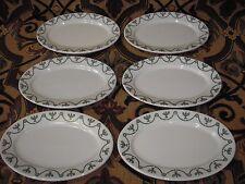 6 Vintage O.P. Syracuse China St. Elmo Oval Platters A-1 1920