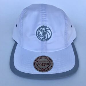 NEW Mitchell & Ness Dallas Mavericks Double Weave Strapback Hat White MSRP $30