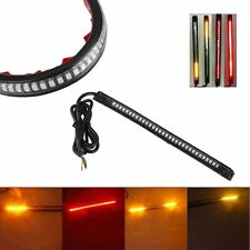 32LED 8'' Flexible Motorcycle Light Strip Brake Tail Turn Signal Stop Integrated