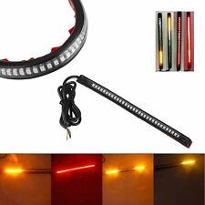 32LED 8'' Flexible Motorcycle Light Strip Brake Tail Turn Signal Stop Integrated