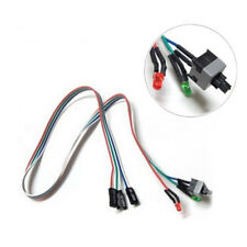 ATX PC Desktop Case Power On Off Reset Button Switch 65cm Cable With LED Lights