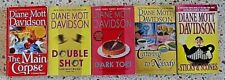 5 DIANE MOTT DAVIDSON MYSTERY BOOKS NO DOUBLES FREE SHIPPING