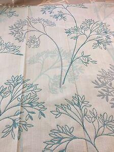 REMNANT Off Cut Fabric Curtain Blind Cushion Craft 140x94cm Willman Peacock