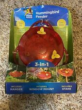 New listing Classic Brands Red 3-n-1 Plastic Hummingbird Feeder - Missing 1 Yellow Flower