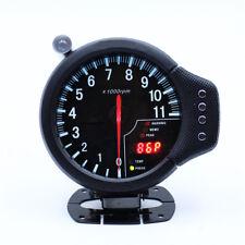 5in Race Car Stepper Motor Tachometer 0-11000RPM Water Temp Oil Pressure Alarm