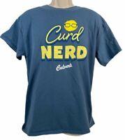 Gildan Curd Nerd Culvers Cotton T Shirt Blue L Large Cotton Chees The Day