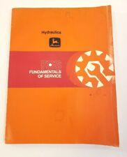 John Deere Fundamentals of Service Hydraulics Manual  FOS-1003B 1979