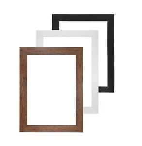 Picture frame photo frame Black White Silver Wrapped MDF 30 mm A3 A4