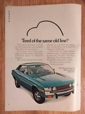 1973 Print Ad Toyota Celica ST Car Automobile ~ Sporty Isn't Just Skin Deep