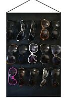 Eyeglass Sunglasses Storage Display Stand Organizer for 15 Glasses for wall door
