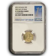 2015 W American Proof Gold Eagle NGC PF70 FDOI 1/10th oz Proof Gold $5 Coin