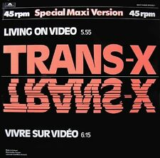 Trans X Living On Video / Vivre Sur Vidéo Dutch 12""