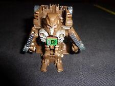 "TRANSFORMERS Bot Shots 2"" Brown Tank Robot w/ Red Eyes Hasbro TOMY 2011"
