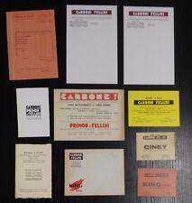 FC528_CARBONI PRIMON E FELLINI_TORINO_COKE_CARTE INTESTATE PUBBLICITARIE