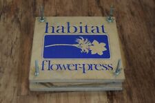 Habitat Vintage flower press retro flower arranging arrangement press pressing