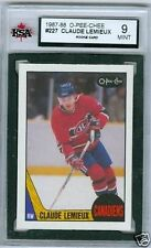 Claude Lemieux RC 1987-88 OPC 87 NHL Card #227 KSA 9