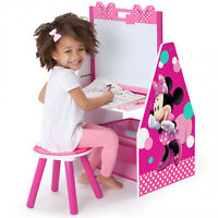 Minnie Mouse Deluxe Kids Art Table, Easel, Desk, Stool & Toy Box Organizer - NEW