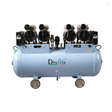 Medical 100L 3HP Oil free Noiseless Air Compressor Motors for 7pcs Dental Chairs