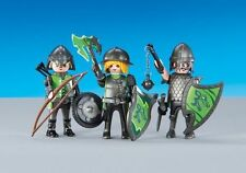 Playmobil falcon Knights Figures Axes Castle Lot New Rare Accessories lot 6383