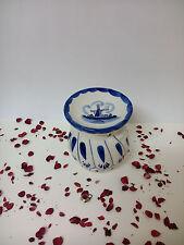 Quemador de incienso vela porcelana azul holanda